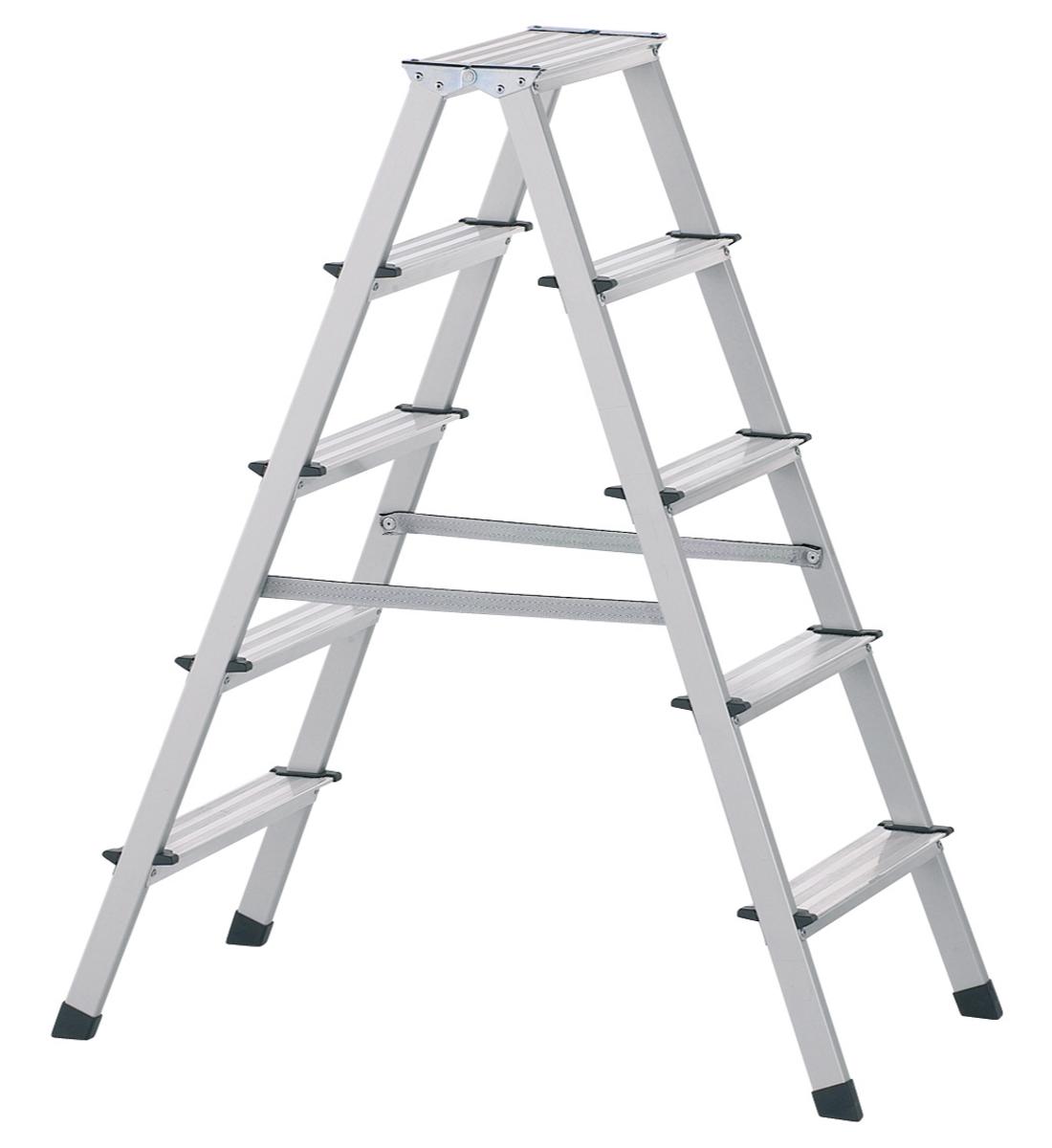 Stufen-Stehleiter eloxiert 7 Stufen